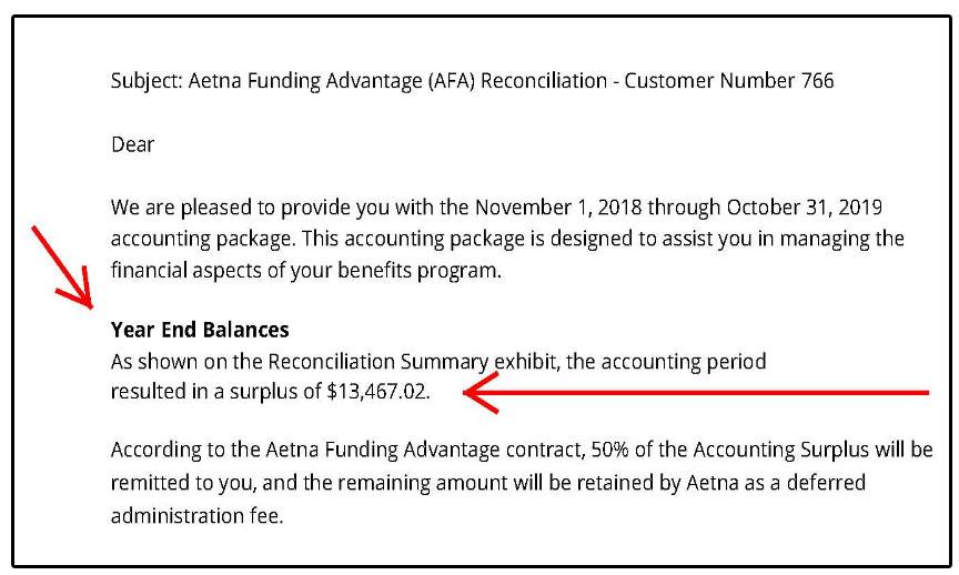 Health Insurance Premium Savings Return